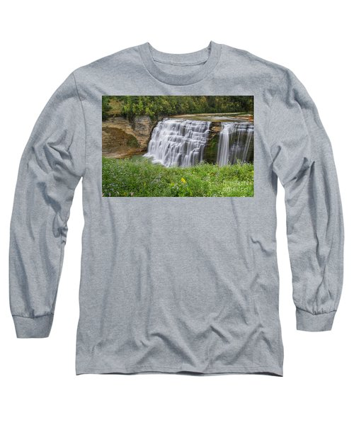 Autumn Flower Of Letchworth Middle Falls Long Sleeve T-Shirt