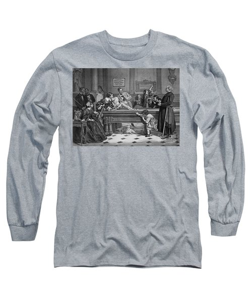 Family Billiards 1891 Long Sleeve T-Shirt by Padre Art