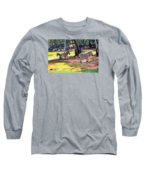 Family Of Four Long Sleeve T-Shirt by James Potts