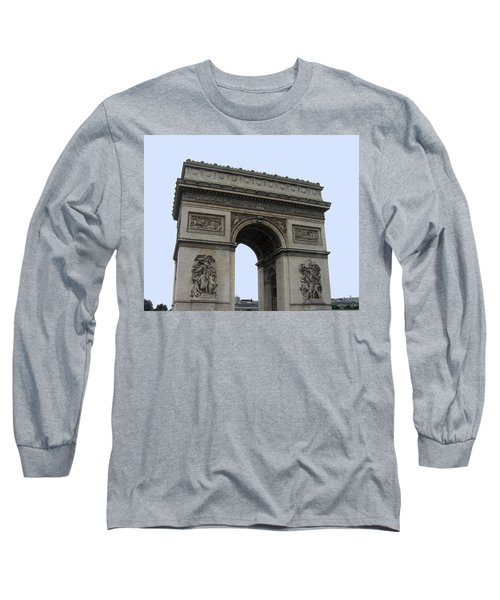 Long Sleeve T-Shirt featuring the photograph Famous Gate Of Paris - Arc De France by Suhas Tavkar