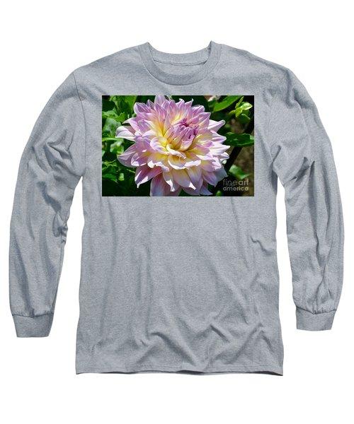 Fancy Dahlia In Pinks Long Sleeve T-Shirt
