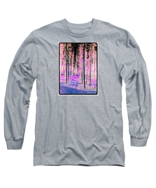 Fantasy Forest Long Sleeve T-Shirt by Linda Bianic