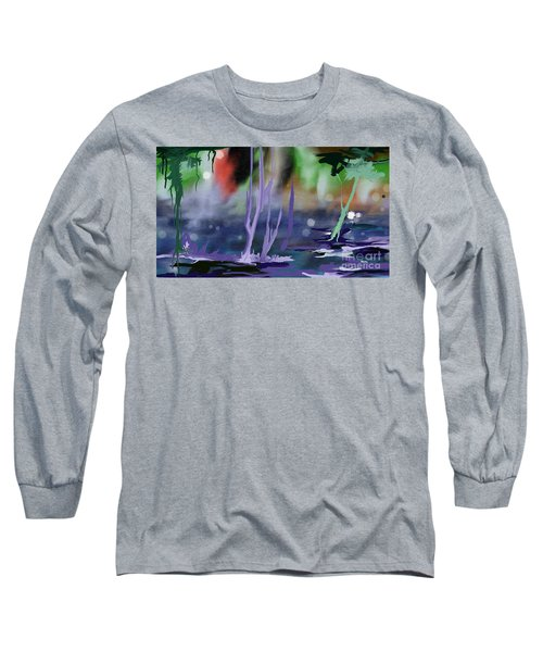 Long Sleeve T-Shirt featuring the painting Fantasy With A Touch Of Reality by Rushan Ruzaick