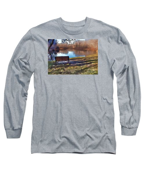 Long Sleeve T-Shirt featuring the photograph Farewell Fishing by Betsy Zimmerli