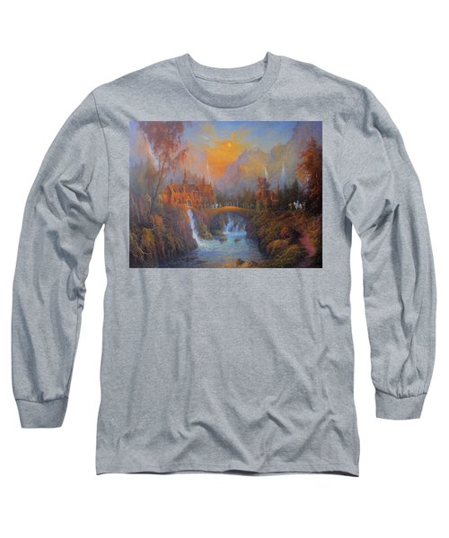 Farewell To Rivendell The Passing Of The Elves Long Sleeve T-Shirt by Joe  Gilronan