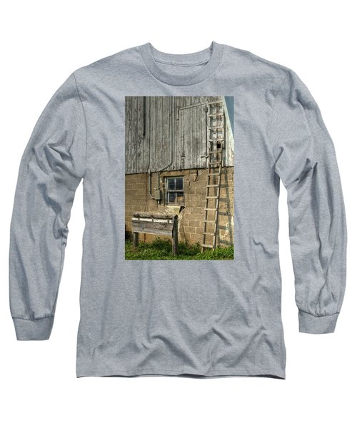 Farm Cat In Barn Long Sleeve T-Shirt
