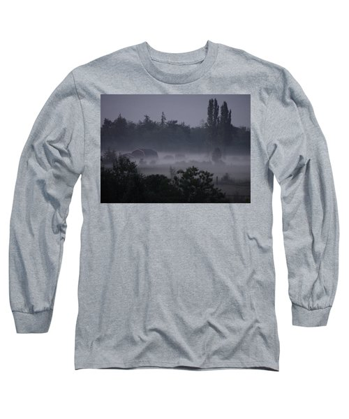 Farm In Fog Long Sleeve T-Shirt