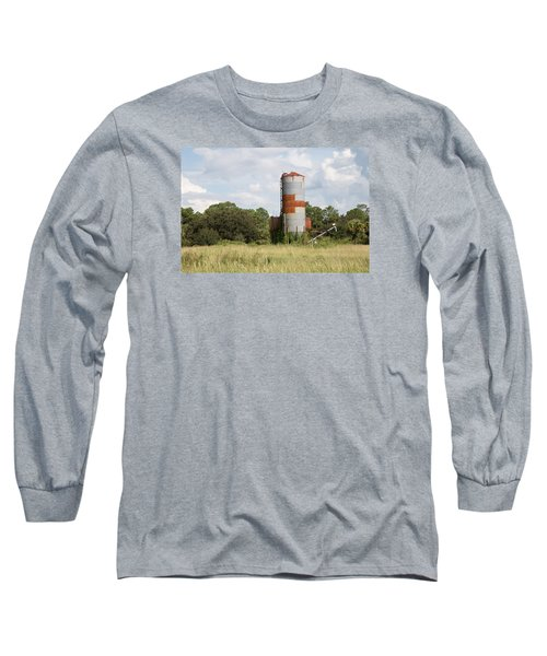 Farm Life - Retired Silo Long Sleeve T-Shirt by Christopher L Thomley