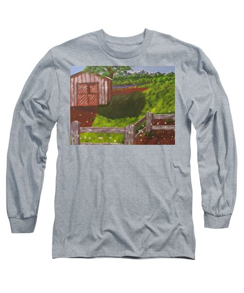 Farm Painting Long Sleeve T-Shirt