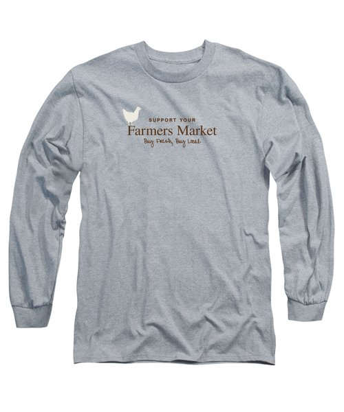 Farmers Market Long Sleeve T-Shirt by Nancy Ingersoll