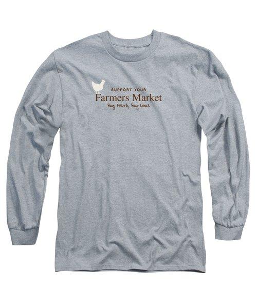 Farmers Market Long Sleeve T-Shirt by Nancy Ingersoll