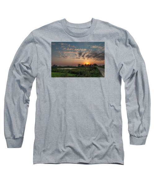 Farmstead Sunrise Long Sleeve T-Shirt by Dan Traun