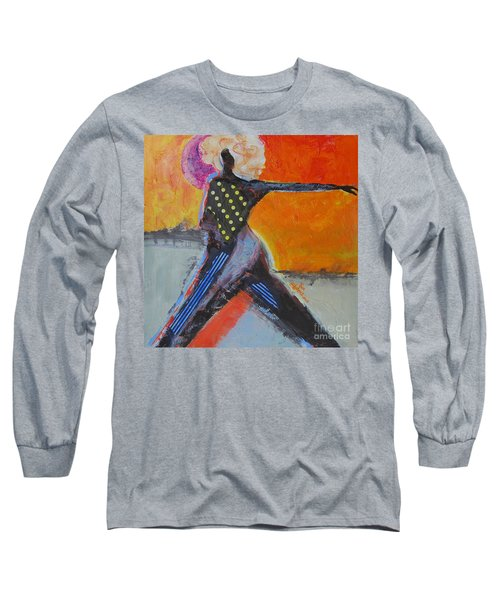 Long Sleeve T-Shirt featuring the painting Fashionista by Ron Stephens