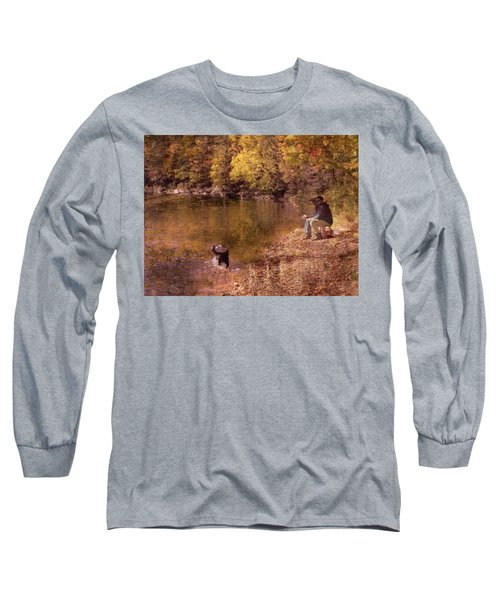 Father,son And Dog Long Sleeve T-Shirt