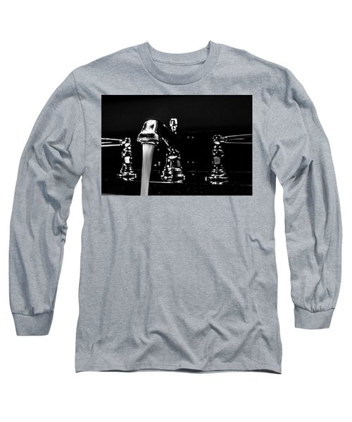Faucet With Running Water Long Sleeve T-Shirt