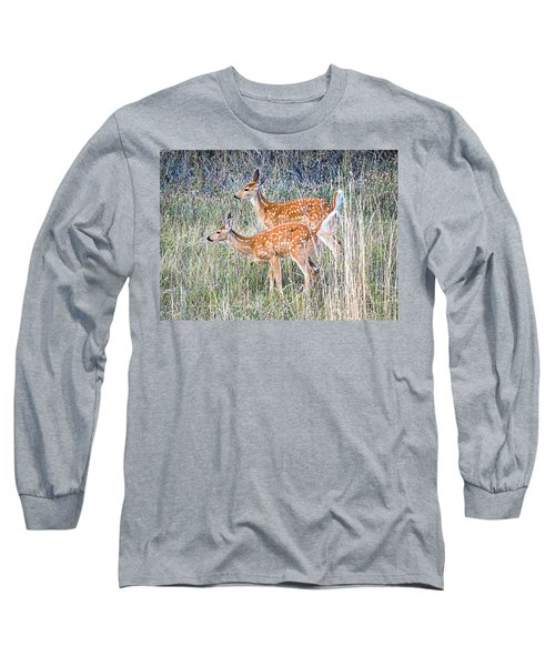 Fawns At Bigfork Long Sleeve T-Shirt