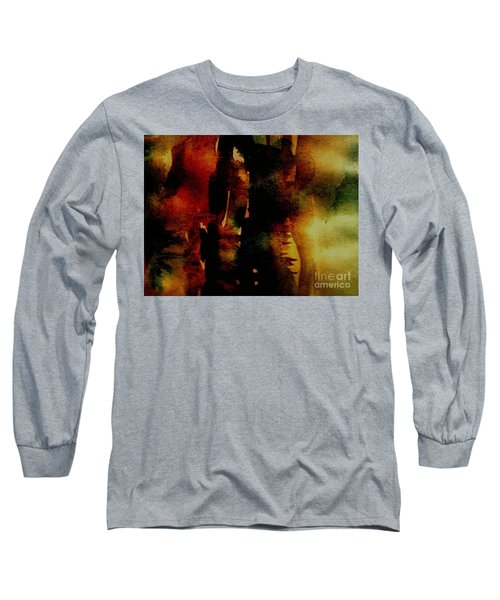 Long Sleeve T-Shirt featuring the painting Fear On The Dark by Rushan Ruzaick