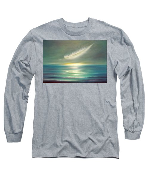 Feather At Sunset Long Sleeve T-Shirt