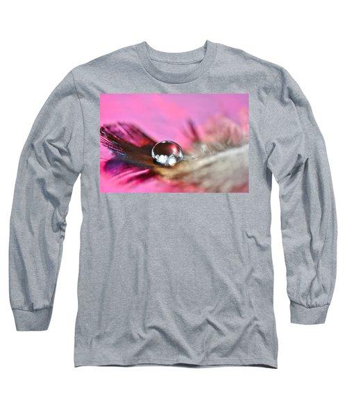 Feather Drop Long Sleeve T-Shirt by Diane Alexander