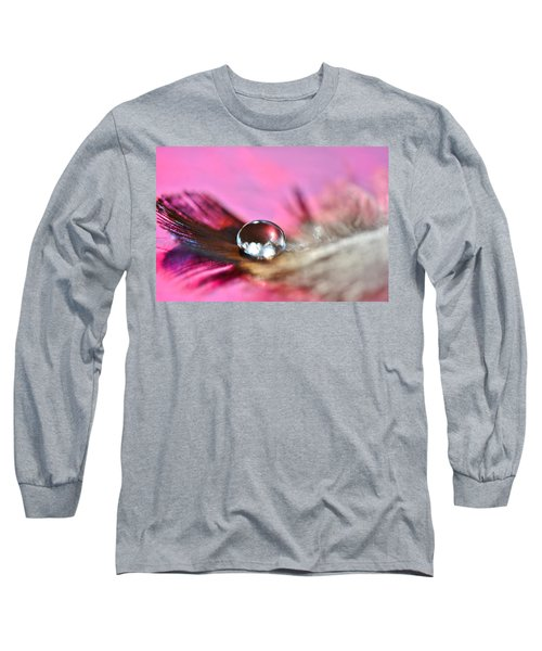 Feather Drop Long Sleeve T-Shirt