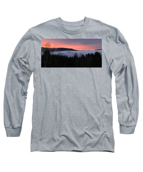 Long Sleeve T-Shirt featuring the photograph February Oregon Sunrise by Katie Wing Vigil
