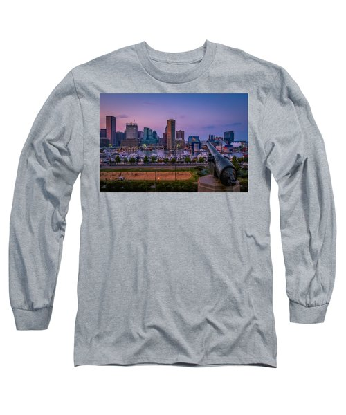 Federal Hill In Baltimore Maryland Long Sleeve T-Shirt