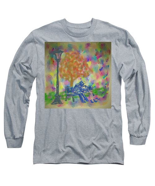 Long Sleeve T-Shirt featuring the painting Feeding The Birds by Kevin Caudill