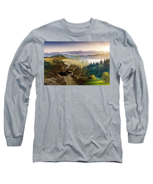 Feeding The Waterfall Montage Long Sleeve T-Shirt