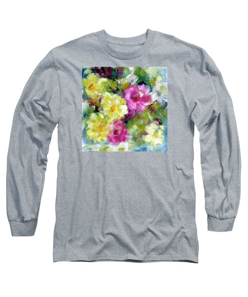 Long Sleeve T-Shirt featuring the painting Felicidades by Katie Black
