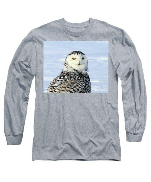 Female Snowy Owl Long Sleeve T-Shirt