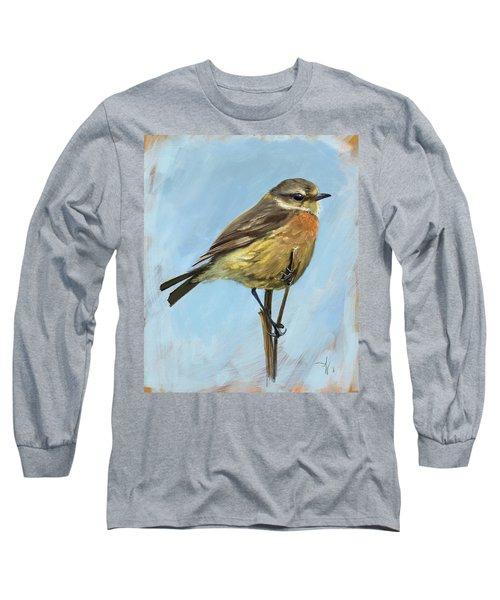 Female Stonechat Long Sleeve T-Shirt