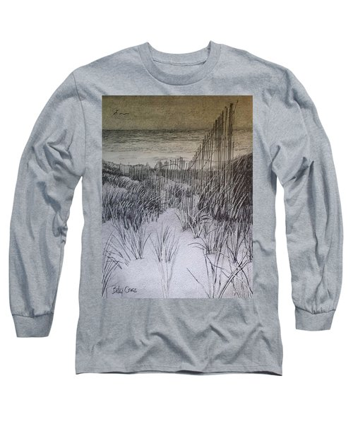 Fence In The Dunes Long Sleeve T-Shirt