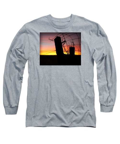 Fence Sunrise Long Sleeve T-Shirt