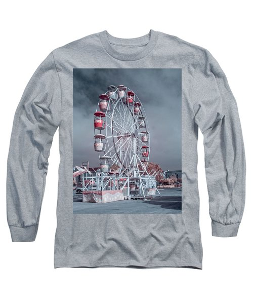 Long Sleeve T-Shirt featuring the photograph Ferris Wheel In Morning by Greg Nyquist