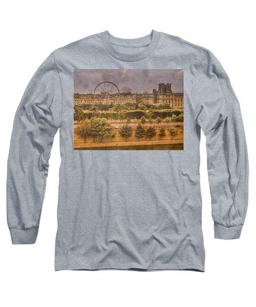 Paris, France - Ferris Wheel Long Sleeve T-Shirt