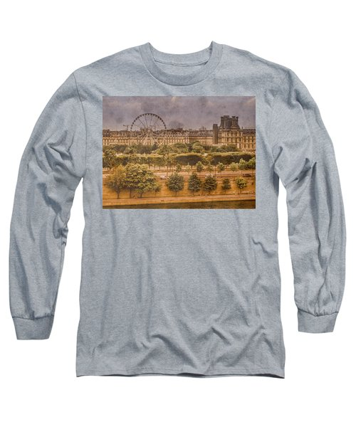Paris, France - Ferris Wheel Long Sleeve T-Shirt
