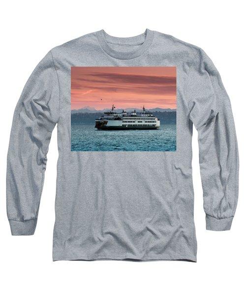 Ferry Cathlamet At Dawn.1 Long Sleeve T-Shirt