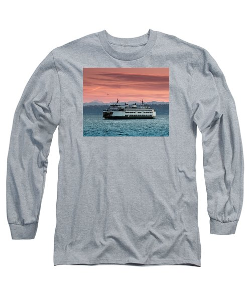 Ferry Cathlamet At Dawn.1 Long Sleeve T-Shirt