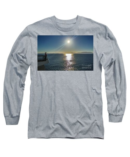 Long Sleeve T-Shirt featuring the photograph Ferry To The San Juan's by William Wyckoff