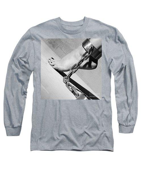 Fetish Shackled Or Cuffed Feet Long Sleeve T-Shirt