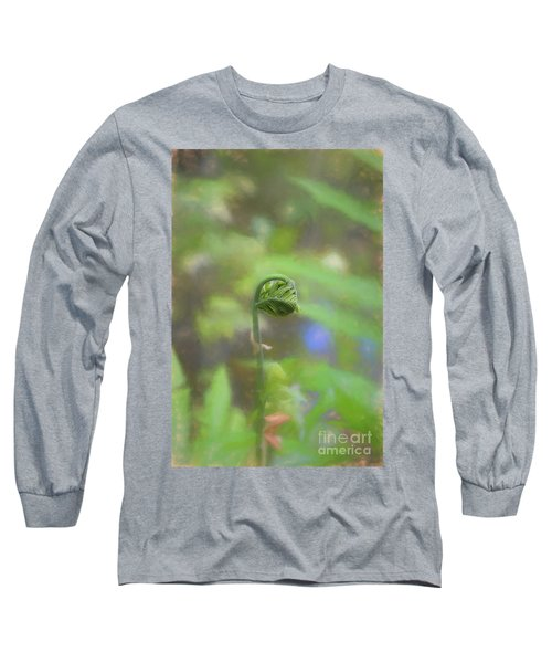 Fiddlehead Fern - Macro Long Sleeve T-Shirt