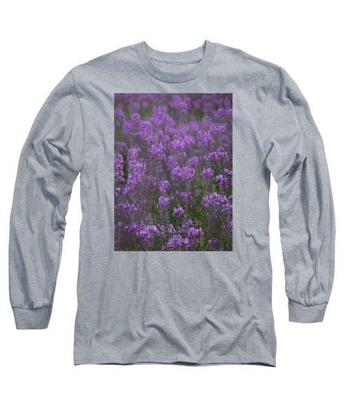 Field Of Fireweed Long Sleeve T-Shirt