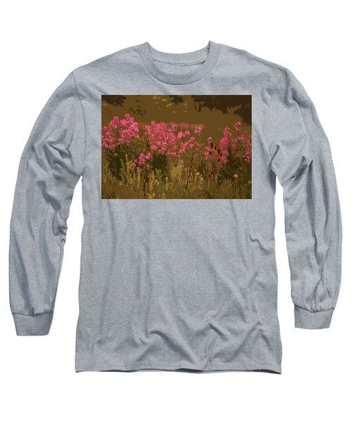 Long Sleeve T-Shirt featuring the photograph Field Of Flowers by Rowana Ray