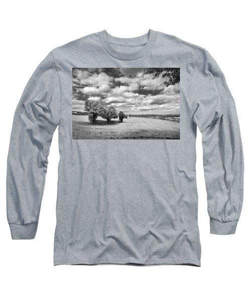 Fields And Clouds Long Sleeve T-Shirt
