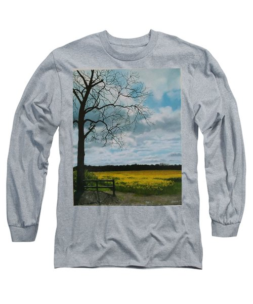 Fields Of Yellow Long Sleeve T-Shirt
