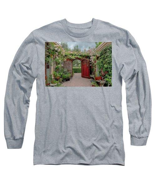 Filoli Garden Entrance Long Sleeve T-Shirt