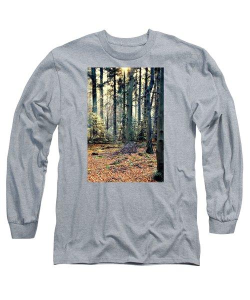 Fir Forest-2 Long Sleeve T-Shirt by Henryk Gorecki