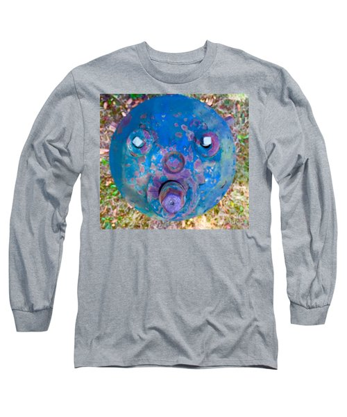 Fire Hydrant # 11 Long Sleeve T-Shirt by Suzanne Lorenz