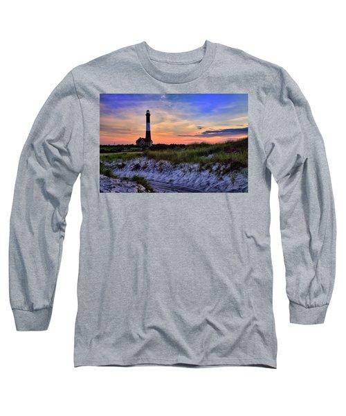 Fire Island Lighthouse Long Sleeve T-Shirt by Rick Berk