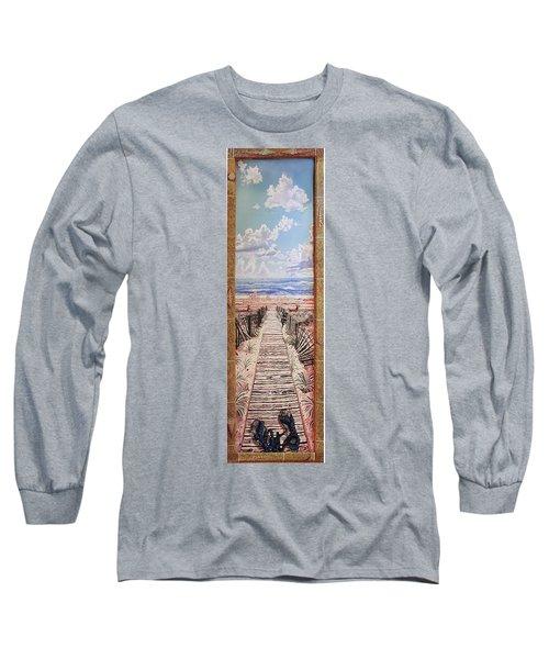 Fire Island Walkway To The Beach Long Sleeve T-Shirt